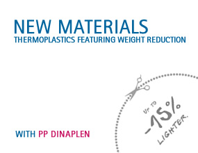 New thermoplastics  materials featuring weight reduction