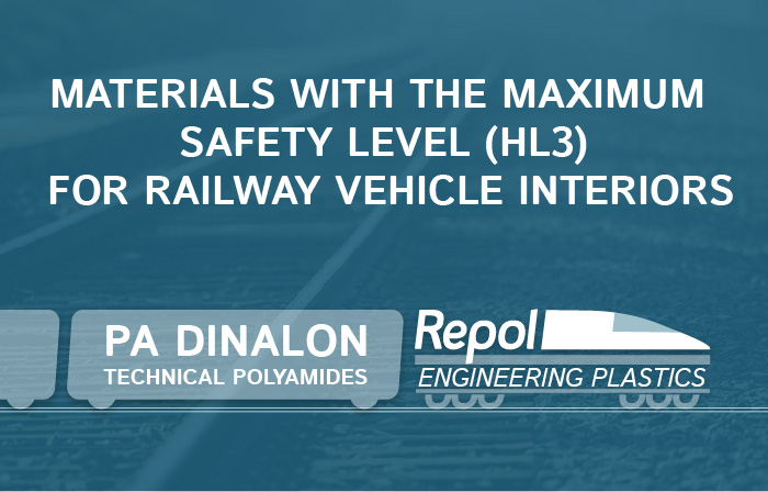 REPOL DEVELOPS NEW MATERIALS WITH THE MAXIMUM SAFETY LEVEL (HL3) FOR RAILWAY VEHICLE INTERIORS